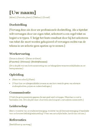 doelstelling op cv Doelstelling Op Cv | hetmakershuis