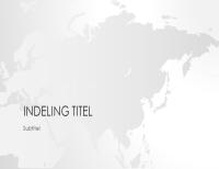 Wereldkaartserie, presentatie van Azië (breedbeeld)