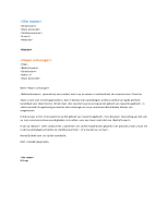Begeleidende brief bij functioneel cv (sluit aan op het functionele cv)