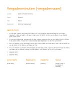 Vergadernotulen (oranje ontwerp)