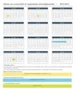 Onderwijskalender 2014