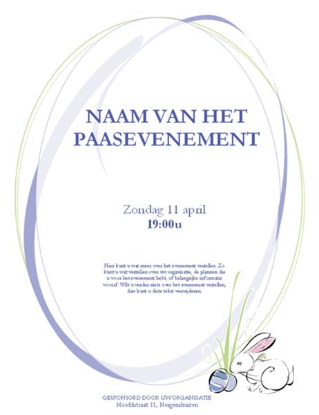 Invitation pour la fête de Pâques (avec lapin)