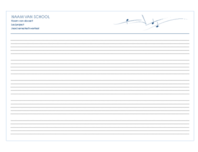 Algemeen papier voor medewerkers (liggend, 5/pagina)