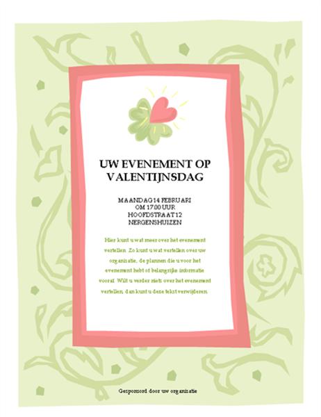 Pamflet voor het Valentijnsevenement