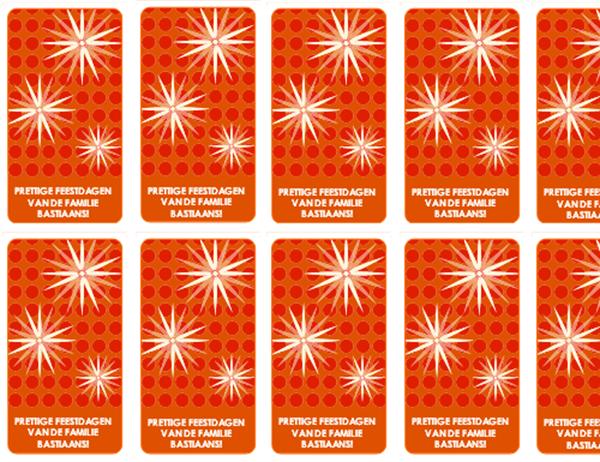 Labels voor kerstcadeaus (sneeuwvlokken, werkt met Avery 5871, 8871, 8873, 8876 en 8879)