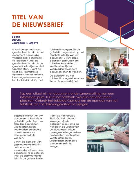 Nieuwsbrief (Executive design, 2 pagina's)