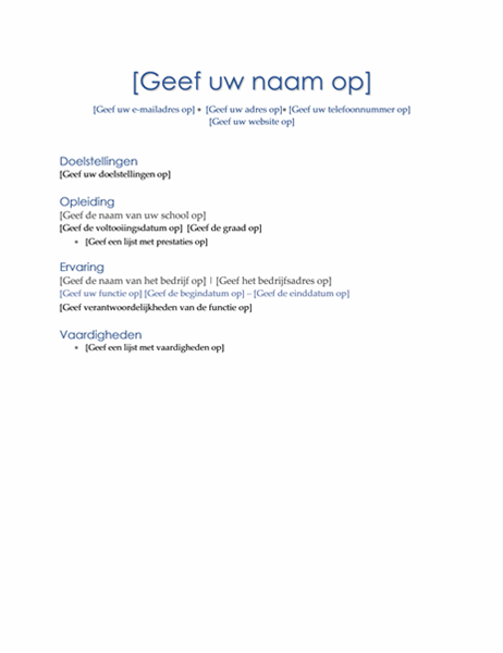 Resumé (thema Executive)