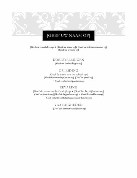 CV (création Cravate noire)