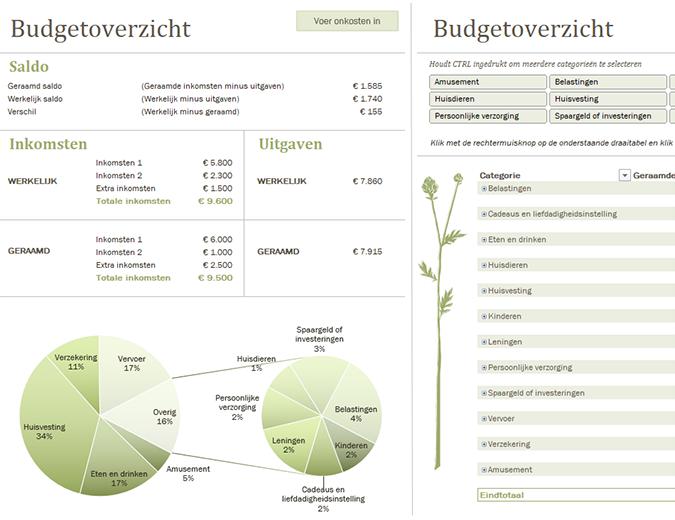 Gezinsbudget (maandelijks)