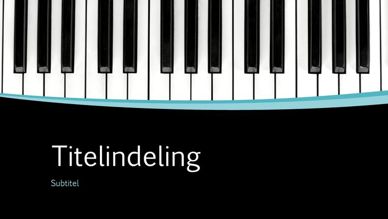Presentatie met muzikale curven (breedbeeld)