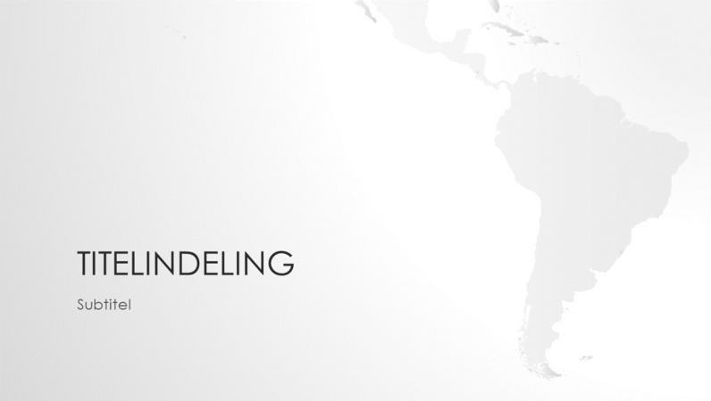 Séries de cartes du monde, présentation Continent sud-américain (écran large)