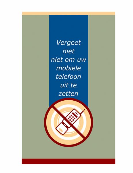 Pamflet met verzoek voor mobiele telefoon
