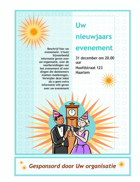 Folder voor nieuwjaarsevenement