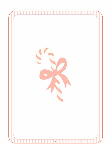 Kerstbriefpapier (met zuurstok als watermerk)