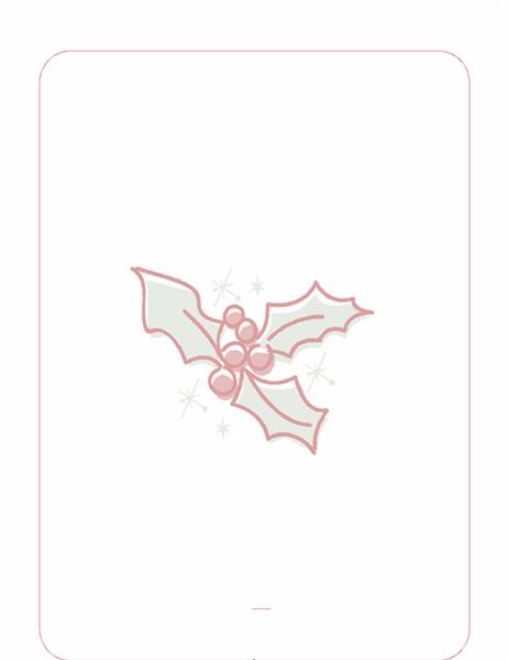 Kerstbriefpapier (met hulstblad als watermerk)