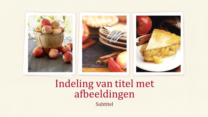 Presentatie met ontwerp van kookboek (breedbeeld)