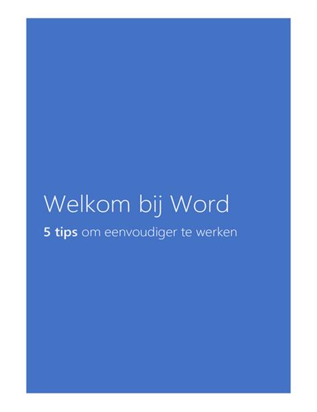 Welkom bij Word 2013