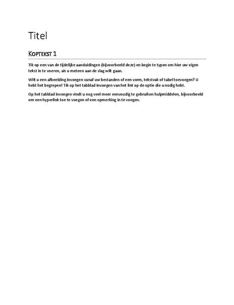 Rapportontwerp (leeg)