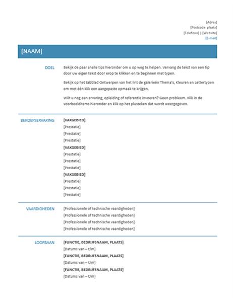 Functioneel cv (eenvoudig ontwerp)