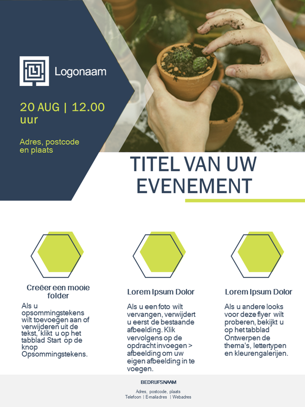 Flyer voor kleine bedrijven (groen ontwerp)