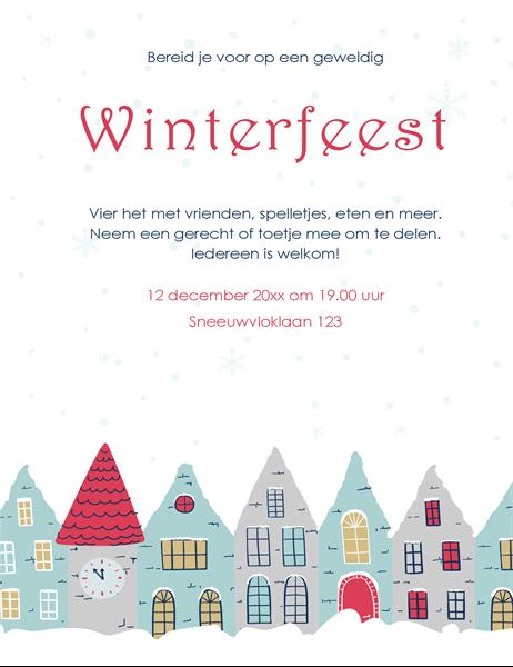 Flyer voor winterfeest