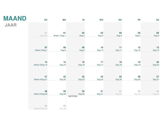 Juliaanse kalender (willekeurig jaar)