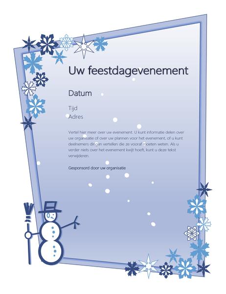 Folder feestdagevenement in de winter