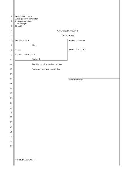 Papier voor juridische documenten (28 regels)