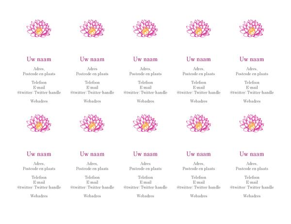 Persoonlijke visitekaartjes met bloemen (verticaal)