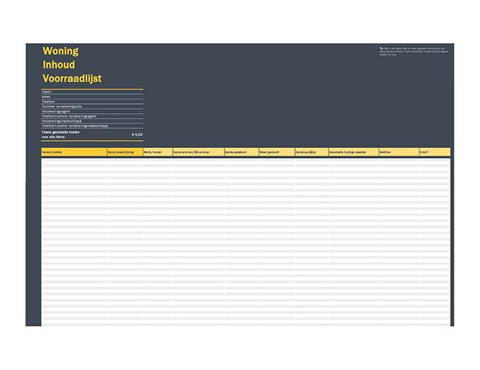 Huisinventarislijst