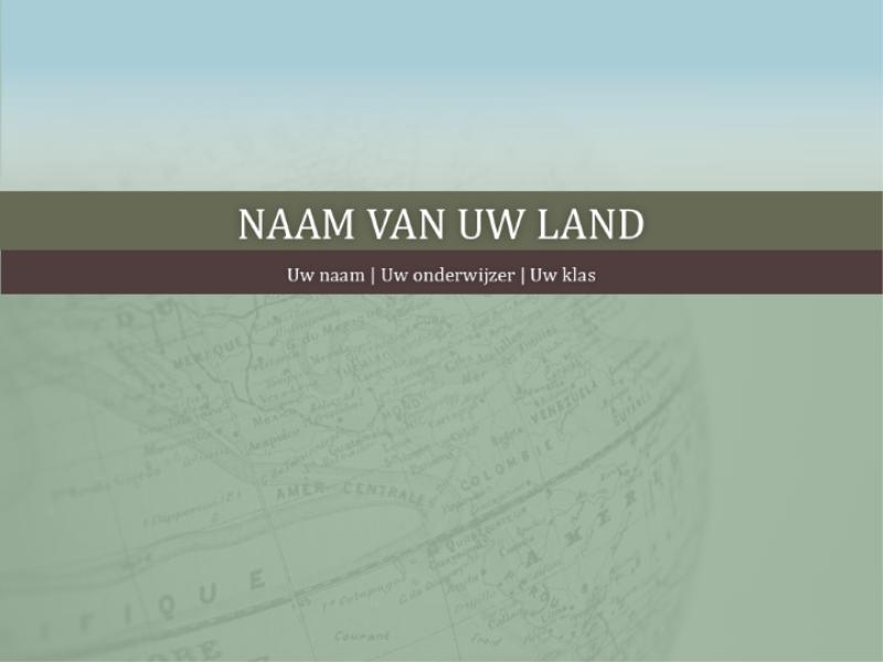 Presentatie voor rapport over land