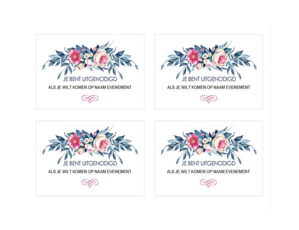 Uitnodiging voor feest (bloemenontwerp)