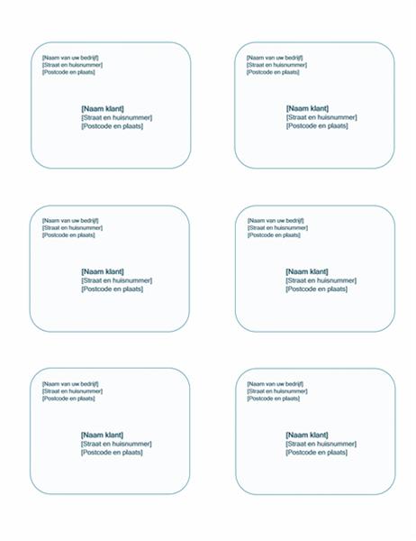 Adresetiketten (ontwerp met blauwe achtergrond, geschikt voor Avery 5164)