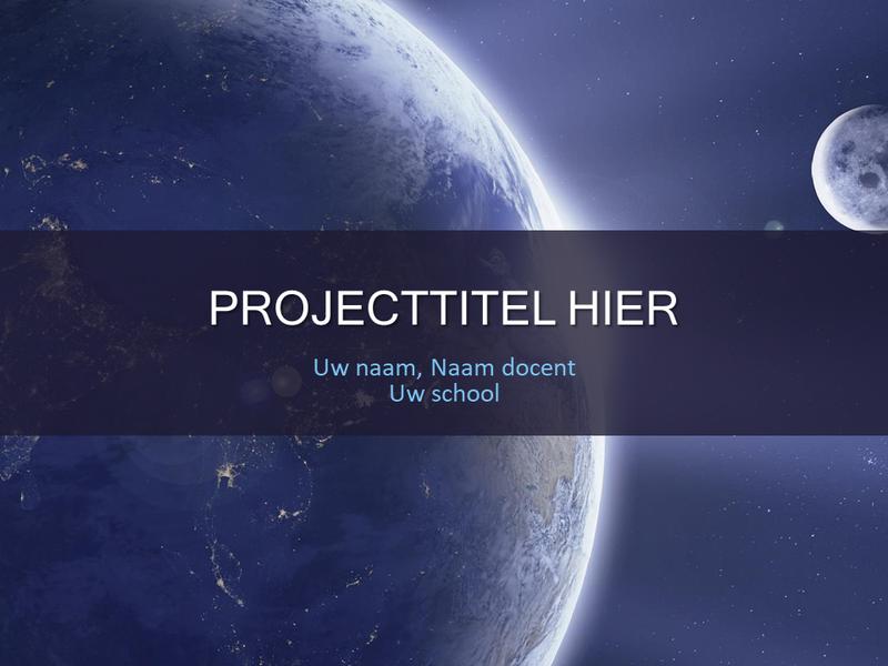 Schoolproject Zonnestelsel