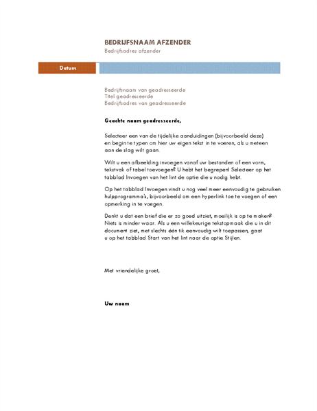 Zakelijke brief (thema Mediaan)