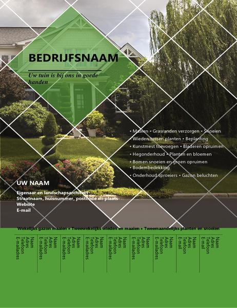 Brochure met scheurtabs en afbeeldingen
