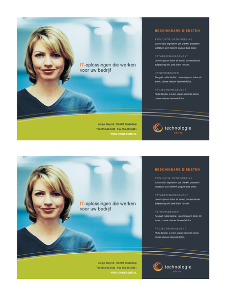 Prospectus d'entreprise de technologie (demi-page, 2 par page)