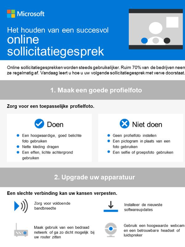 Hoe u zich voorbereidt op een online sollicitatiegesprek