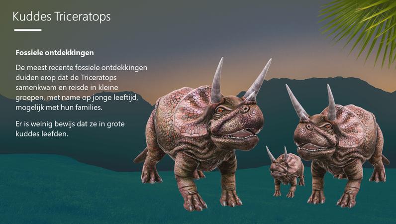 Triceratops, de driehoornige dinosaurus