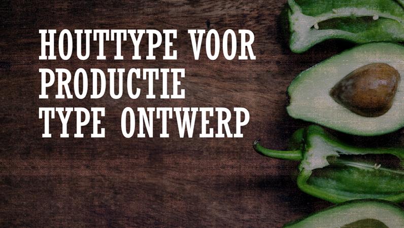 Ontwerp Houttype voor productie
