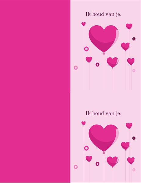 Hartballonnen Valentijnskaart