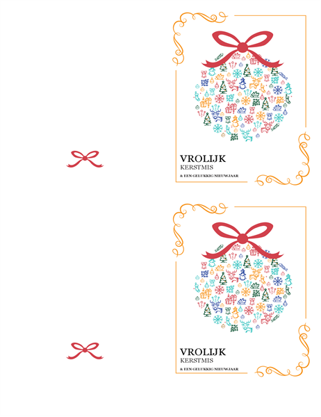 Carte de Noël décorative
