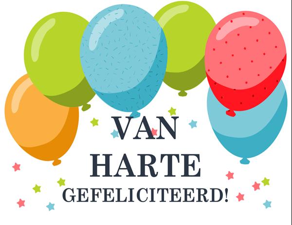 Verjaardagskaart met ballonnen