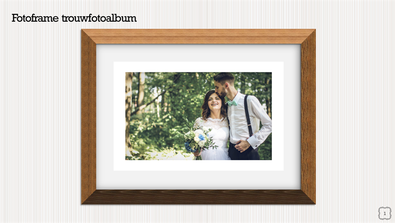 Fotoframe trouwfotoalbum