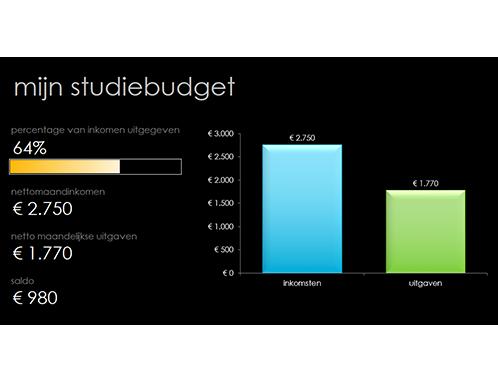 Mijn studiebudget