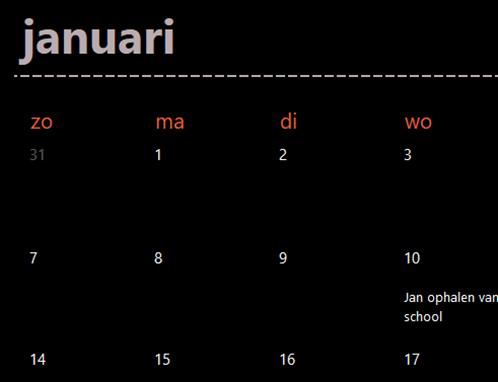 Eeuwigdurende-kalenderbladen (zwart)
