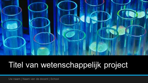 Presentatie van wetenschappelijk project (breedbeeld)