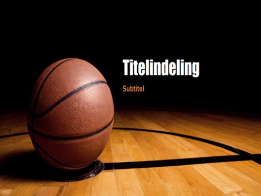Basketbalpresentatie (breedbeeld)
