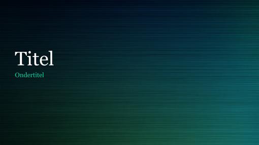 Groen geborsteld metalen presentatie (breedbeeld)