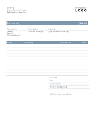 Zakelijke factuur (ontwerp Tijdloos)